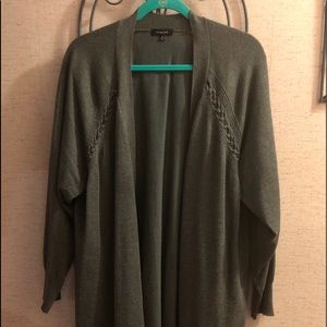 Gray Cardigan long length